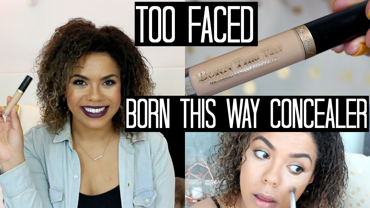 too faced concealer before and after. too faced born this way concealer review + swatches demo | samantha jane - youtube before and after o