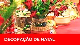 Decoração de Natal com itens sustentáveis e acessíveis