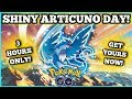 ⭕ LIVE ⭕  SHINY ARTICUNO DAY!!! ❄3 HOURS ONLY ❄ PLUS, 5 FREE PASSES! & MORE! | POKEMON GO