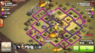 Clash of Clans ~ All Dragons Attack on Townhall 8 #2