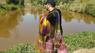 Pescaria com tarrafa gigante_isso é só o começo...