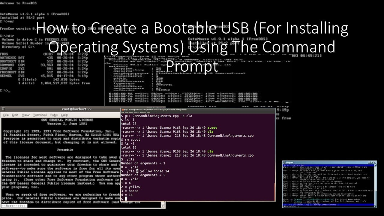 How To Create a Bootable USB Device (Installing Operating Systems) Using  Command Prompt