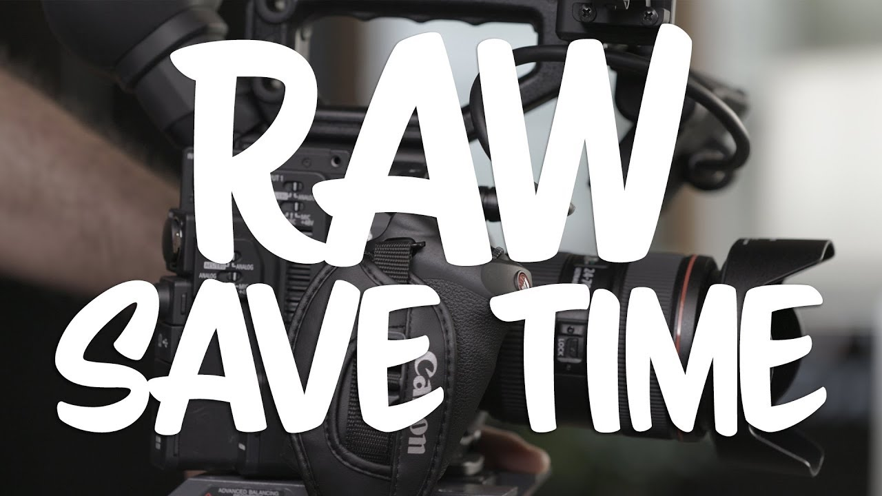 Canon C200 RAW Development Workflow Partial Clip Export Save Time