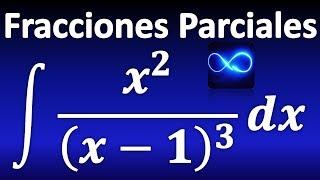 268. Integral mediante fracciones parciales: factor lineal repetido
