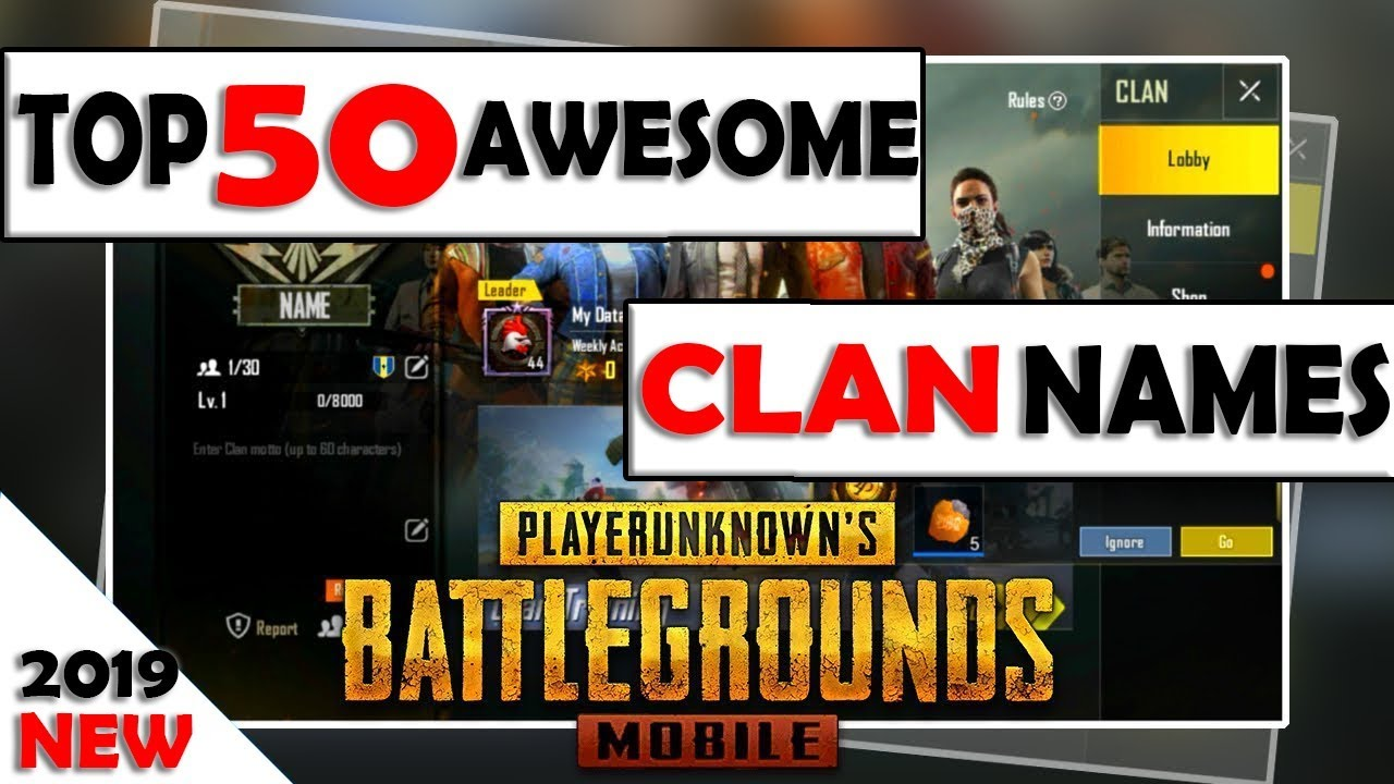 Pubg clan names ideas: Top 50 Awesome pubg clan names| Pubg clan name  suggestion [ IN HINDI ]