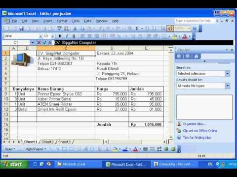 Tutorial Excel [ Menyisipkan ClipArt & WordArt ] - YouTube