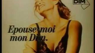 Pub DIM avec Estelle Lefébure [ 1988 ]