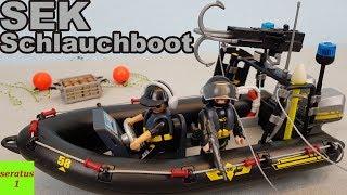 Playmobil SEK Schlauchboot 9362 auspacken seratus1 Spezialeinsatzkommando