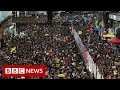 Hong Kong: Police and protesters clash on handover anniversary - BBC News