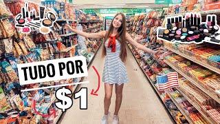 TOUR PELA LOJA DE 1 DÓLAR APRENDA A COMPRAR TAMBÉM | Larissa Dobler l Importe Comigo