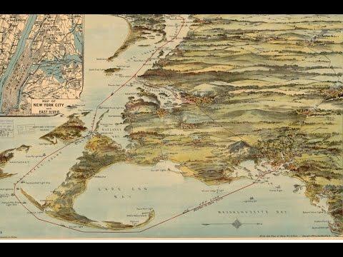 Cape Cod History - Joy Steamship Company Map (1905)