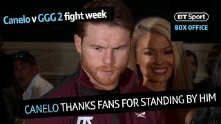 Canelo v GGG 2 arrivals: Canelo Alvarez's first public interview during fight week