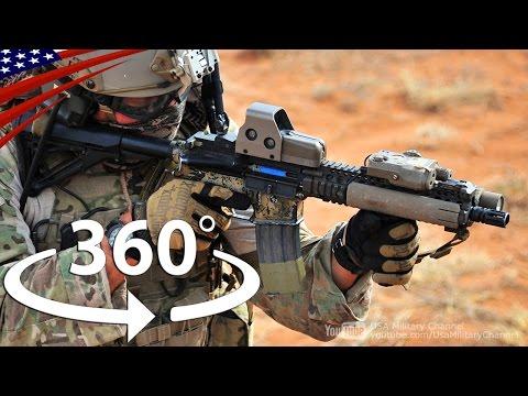 すごい迫力の360度VR動画:特殊部隊の訓練と戦闘機・オスプレイ・攻撃ヘリのコックピット
