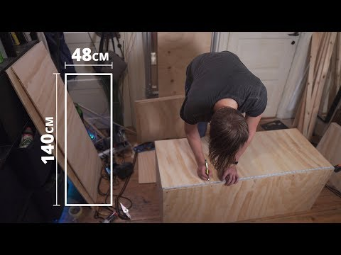 Plywood chest // DIY furniture