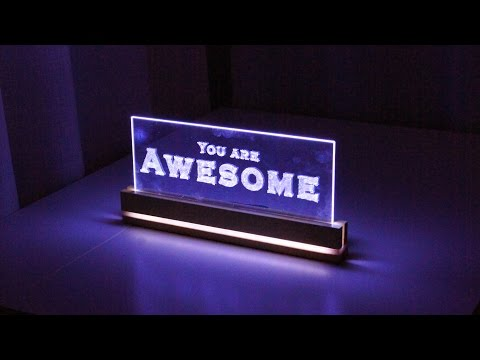 Elegant Acrylic LED Decoration- How to Make a Edge Light Sign Emblem