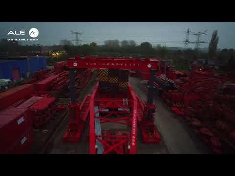 Drone footage of AL600 girder frame and TLG1000 gantry system