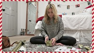wrapping christmas gifts   vlogmas day 23