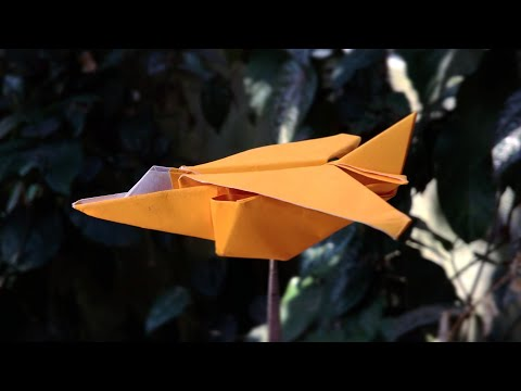 Origami Jet Fighter Aircraft Tutorial