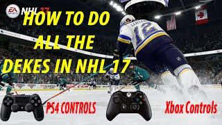 NHL 17 DEKES TUTORIAL PS4 & XBOX ONE CONTROLS