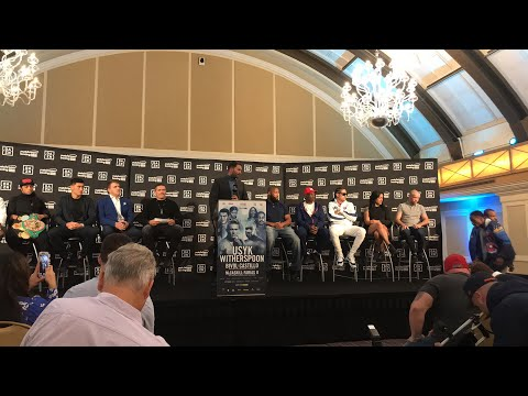 LIVE! OLEKSANDR USYK VS CHAZZ WITHERSPOON FINAL PRESS CONF IN CHICAGO