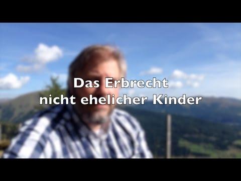Erbrecht | Das Erbrecht nicht ehelicher Kinder | RA-Video.tv #05