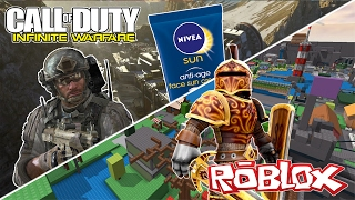 CALL OF DUTY INFINITE WARFARE AND ROBLOX ; FUNNY MOMENTS (KUDA SONG , RAGE QUIT , AMERICANS? )