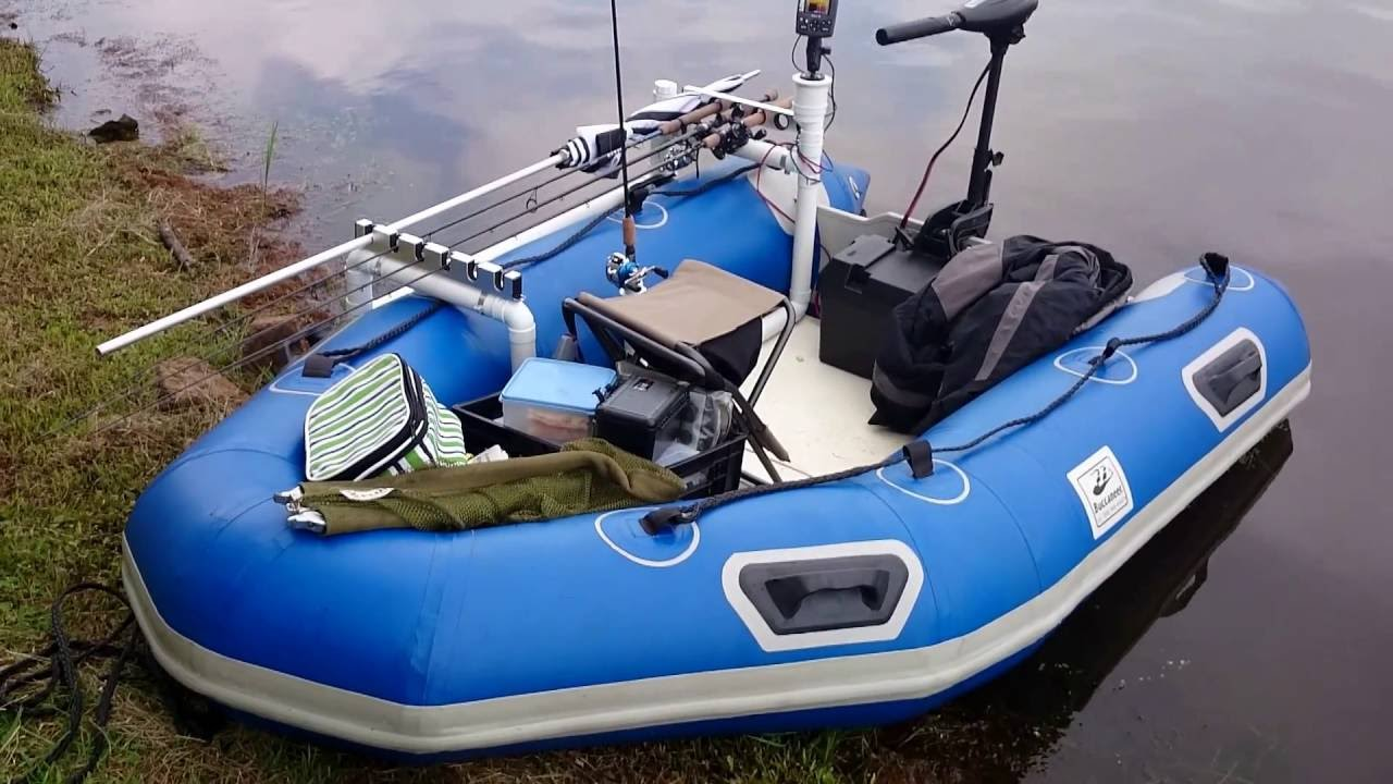 Inflatable boat used for bass fishing youtube for Rubber boats for fishing