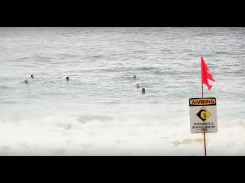 Dangerous Shorebreak Rescues, Sandy Beach Lifeguards