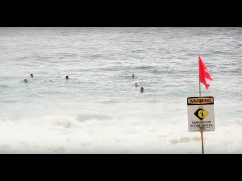 Dangerous Shorebreak Rescues, Sandy Beach Lifeguards