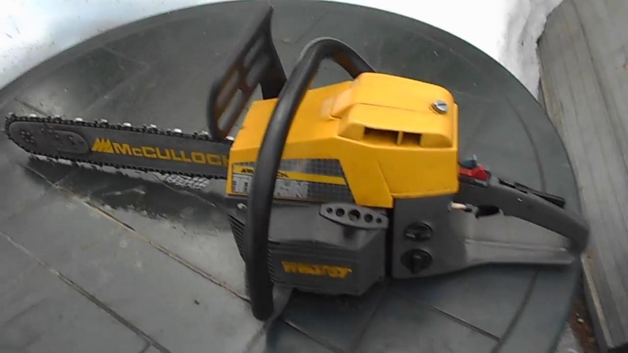 McCulloch Titan 57 Chainsaw Test Run