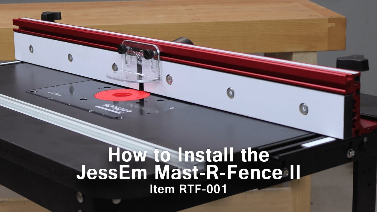 How to install the jessem mast r fence ii on your router table youtube how to install the jessem mast r fence ii on your router table keyboard keysfo