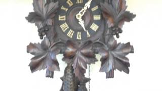 Antique Black Forest Cuckoo Clock With Eagle C. 1900 For Sale
