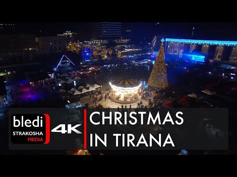 Amazing Christmas time in Tirana [Drone video | 4K UHD]