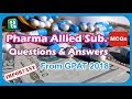 Pharmacy Other subjects MCQs