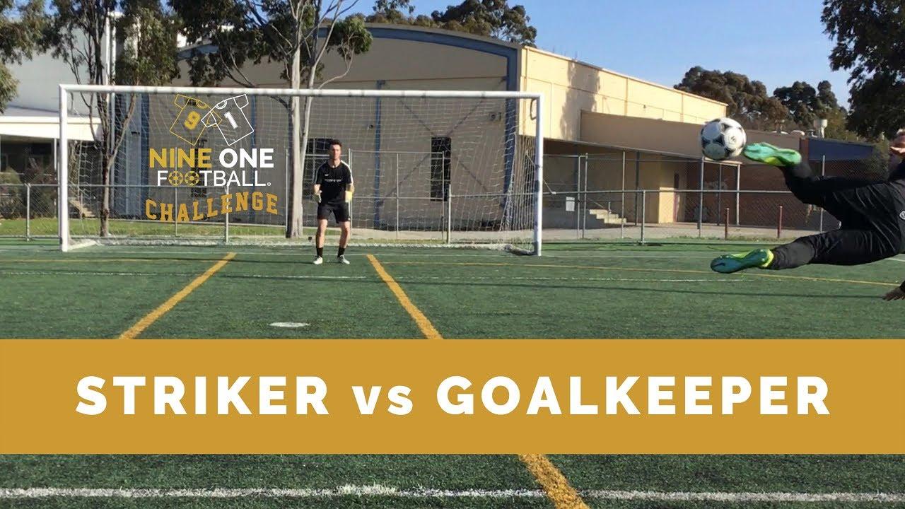Nine One Challenge 1 I Soccer Strikers vs Goalkeepers I Nine One Football