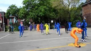World's Largest Morphsuit Dodgeball Game
