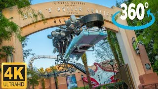 360º 4K Ride on Rock 'n' Roller Coaster Starring Aerosmith (Complete)
