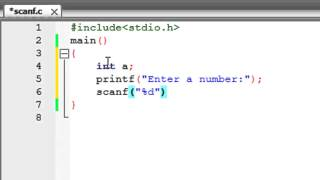 C Programming Tutorial-6: Receive Input from Users Using scanf()