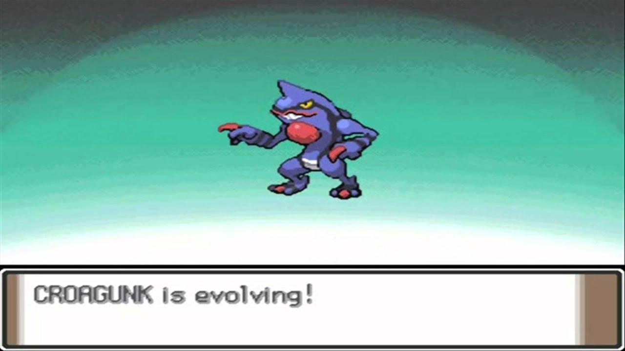 Pokemon platinum croagunk evolves to toxicroak hd youtube - Pokemon platine evolution ...
