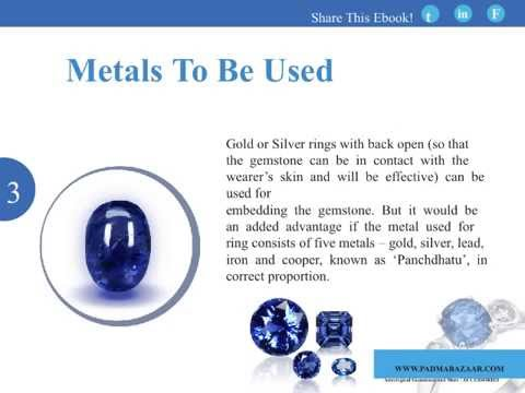 How To Wear Blue Sapphire Stone Or Neelam Gemstone Youtube