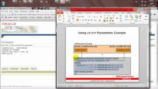 كورس PL SQL   المحاضره الحاديه عشر   Creating Stored Procedures