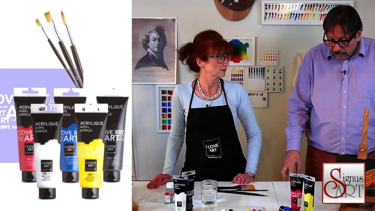 quel mat riel de d part faut il pour peindre l 39 acrylique youtube. Black Bedroom Furniture Sets. Home Design Ideas