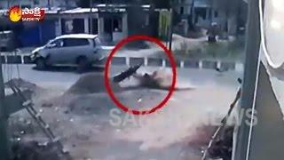 Car Hits A Bike At Shanti Nagar Cross Roads, ...