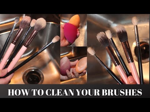 HOW TO CLEAN YOUR MAKEUP BRUSHES // EASY & CHEAP