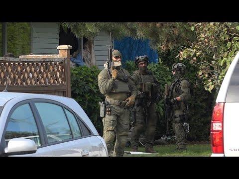 RCMP Emergency Response Team Raid Crack House Port Coquitlam
