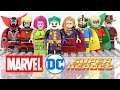 DC & Marvel Joker Supergirl Green Lantern X-Men Blink & Spawn Unofficial LEGO Minifigures