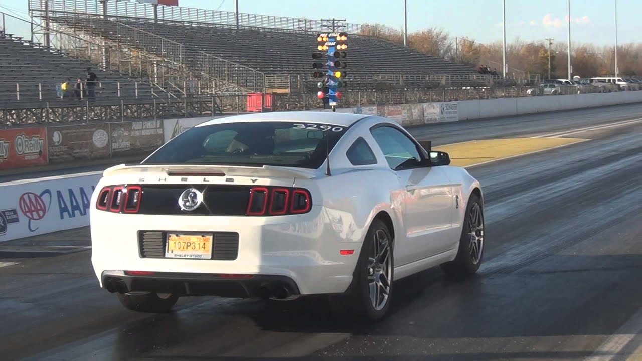 Stock 2013 gt500 1 4 mile