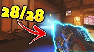 He Hit 28 Out Of 28 Shots!! - Overwatch Best Aim