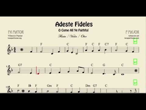 O Come All Ye Faithful Sheet Music For Flute Violin And Oboe In F