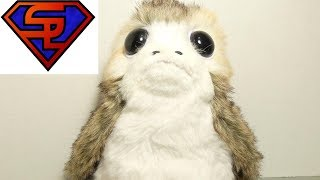 Star Wars The Last Jedi Porg Action Plush Life Size Toy Review